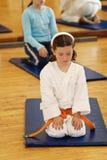 Karatemädchen Lizenzfreies Stockfoto