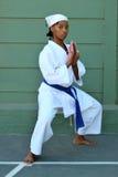 Karatemädchen Lizenzfreie Stockfotos