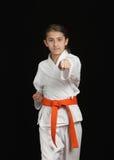 Karatemädchen Stockfotografie