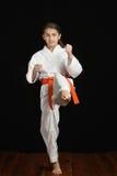 Karatemädchen Lizenzfreies Stockbild