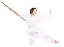 Karatemädchen stockfotos