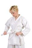 Karatemädchen. Lizenzfreie Stockfotografie