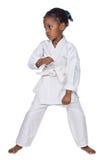 Karatemädchen Lizenzfreie Stockfotografie