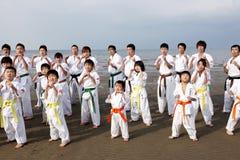 Karatemänner Stockfoto