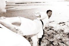 karatesportsmen arkivbild