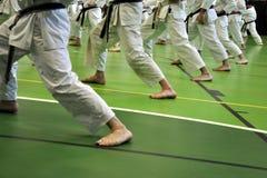 karatestance Fotografering för Bildbyråer