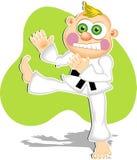 karateunge royaltyfri illustrationer