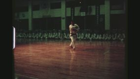 Karateutbildningsdemonstration lager videofilmer