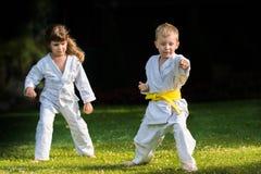 Karatevechtsporten royalty-vrije stock afbeelding