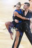 Karatkevich Vladimir und Kravchenko Nataliya Performs Adult Latin-American Program stockbild