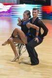 Karatkevich Vladimir und Kravchenko Nataliya Performs Adult Latin-American Program stockfoto