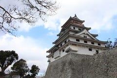Karatsu Castle Karatsu-jo, which located by the sea. Taken in Saga, Japan, February 2018 royalty free stock images