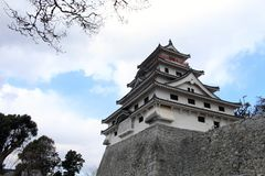 Karatsu Castle Karatsu-jo, which located by the sea. Taken in Saga, Japan, February 2018 royalty free stock image
