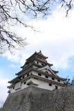 Karatsu Castle Karatsu-jo, which located by the sea. Taken in Saga, Japan, February 2018 stock image