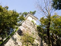 Karatsu castle stone wall. Stone wall of traditional Japanese samurai castle in Karatsu, Saga prefecture stock images
