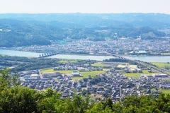 Karatsu stad i sagan, Japan royaltyfri bild