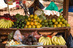 Karatu fruit stand. In western tanzania Royalty Free Stock Photo