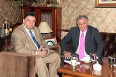Karatzaferis e Psomiadis in una riunione Fotografie Stock