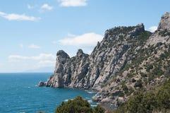 Взгляд горы Karaul-Oba, Крыма Стоковые Изображения