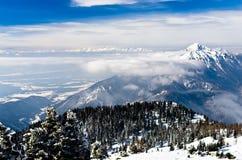 Karavanke Landschaft, Südseite der Alpen Stockbild