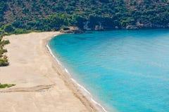Karavostasi在Perdika,希腊 免版税图库摄影