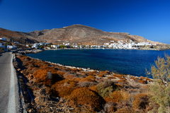 Karavostatis bay. Folegandros. Cyclades islands. Greece Stock Image