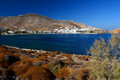 Karavostatis bay. Folegandros. Cyclades islands. Greece Stock Photos