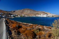 Karavostatis zatoka Folegandros Cyclades wyspy Grecja Obraz Stock