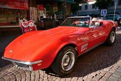 Karawana Amerykańscy retro samochody Obrazy Royalty Free
