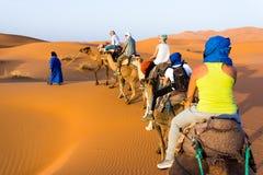 Karawana na Sahara Obraz Stock
