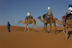 Karawana na Sahara Zdjęcia Stock