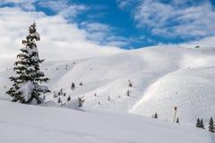 Karawanks en invierno Foto de archivo