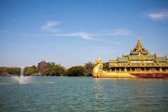 Karaweik palace, Yangon, Burma Stock Photos