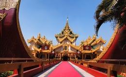 Karaweik palace in Yangon Stock Photos