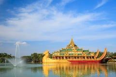Karaweik palace, Yangon, Myanmar Stock Photos