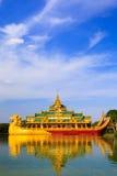 Karaweik palace, Yangon, Myanmar Stock Photography