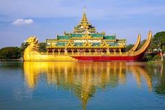 Karaweik palace, Yangon, Myanmar Royalty Free Stock Photos