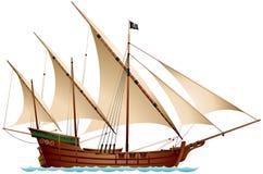 Karawela pirata statek zdjęcie stock