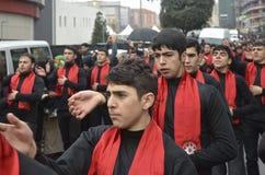 Karbala spelar martyr åminnelse i Arenamega Azerbajdzjan hertz imam Fotografering för Bildbyråer