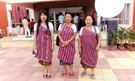 Karbi traditional attire Royalty Free Stock Image