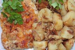 Karbonade en aardappel Royalty-vrije Stock Foto's