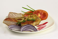 Karbonade met groenten Royalty-vrije Stock Fotografie