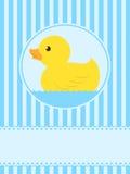 karciana śliczna kaczki powitania guma ilustracji