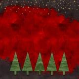 karciana bożych narodzeń projekta płatków śniegów miś pluszowy zabawka Obraz Royalty Free