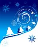 karciana bożych narodzeń wakacje zima ilustracja wektor