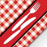 karciana gingham menu czerwień Fotografia Royalty Free