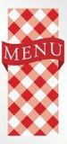 karciana gingham menu czerwień Zdjęcia Royalty Free