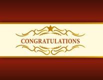 karciana gratulacj złota ilustracja Obraz Royalty Free