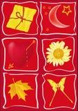 karciana gratulacyjna czerwień Zdjęcie Royalty Free
