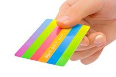 karciana kredytowa ręka Zdjęcia Stock
